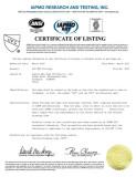 upc certificate of PVC DWV FITTING SCH40