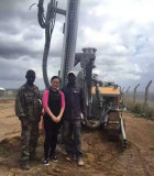 H430 Crawler Drilling Rig work in Africa