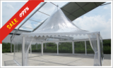 Hexagon Pagoda Tent with Clear Cover