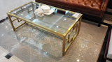 Brush Gloden Coffee Table