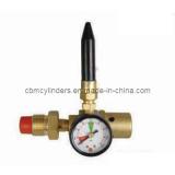 Balloon Inflator Helium Regulator (W/O Handwheel,W/ Pressure Gauge)