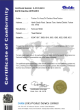 CE ROHS certificate for Electric towel rails