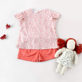 100% Cotton Kids T-Shirt Short Sleeve Girls Clothes