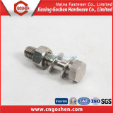 Stainless steel 304 DIN931 hex bolt and nut with washer