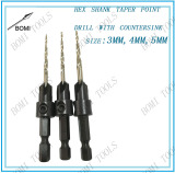 HSS Hex Shank Taper Drill with Countersink