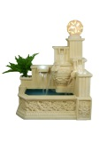 Sandstone carved fountain with lantern