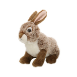 Plush lifelike rabbit toy