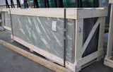process glass package with steel belt