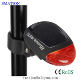 solar led bicycle cycle bike tail rear light