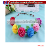 Artificial Flower Garland Headband Floral Headdress Wedding Hairband