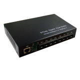 8 SFP Ports 1000m Fiber Switch with 1 10/100/1000m Tx (TS0801G)