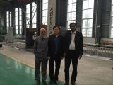 Bangladesh customer visit our factory to purchase shearing and bending machine