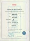 CE certificate of microwave sensors