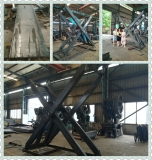 Big X Structure and Platform Scissor Lift