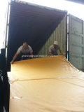 Loading the Diamond embossed solid sheets into 40HQ container on June 29