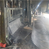 Expanded metal mesh producing