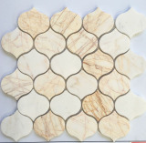 Lantern Sharp Beige Marble Marble Mosaic Tile for Wall Cladding
