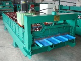 Corrugated steel sheet machine
