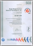 ISO9001 for Design& assembly of indoor alternating-current high voltage vacuum breakers(12)