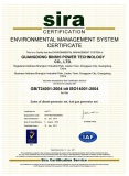 Environmental Management System Certificate ISO14001:2004