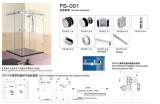 sets of glass hardware for shower room