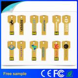 Free Silk Company Logo Printing Metal Key USB Memory Flash Drive