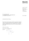Customer Letter from BOSCH Rexroth