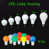The common styles of LED bulbs