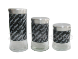 Glass Canister Inner With Stainless Wrap (TM081)