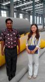 Bangladesh cutomer visiting our pyrolsyis plant