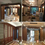 red oak wall paneling integrated wood home decoration