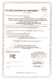 FCC Certificate for IP Cameras