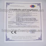 CE of Compliance certificate