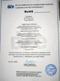 RoHS Certificate of distribution box