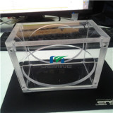 8mm thickness screwed acrylic box with big hole
