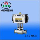 sanitary stainless pneumatic ball valve