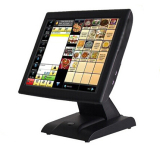"""Stylish 15"""" all in one touch screen POS system with LCD customer display"""