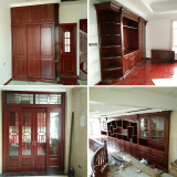 rosewood wardrobe wine rack storage cabinet