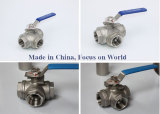 3 way reduce port 1000wog L/T port ball valve