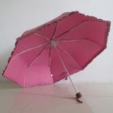 super light aluminum frame lace piping lady folding umbrella