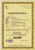ROHS Certificate for USB SOUND CARD