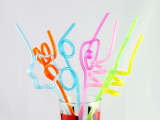 pvc crazy straws ,various shape