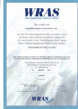 WRAS Certificate for Resilient Seated Gate Valve