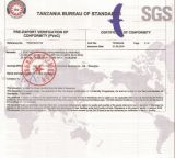 SGS Inspection Certificate