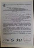 Factory Certificate: CCC