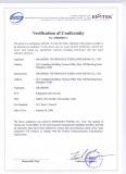 FCC Certificate of Granding Fingerprint T&A System