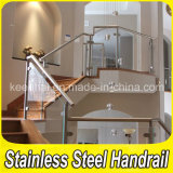 Stainless Steel Stair Handrail with Glass