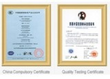 China Compulsory Certificate and Quality Testing Certificate