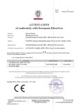 CE for steam cleaner HB-103/SCM101A