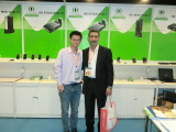 Customers visit our company booth on Hong Kong Electronics Fair